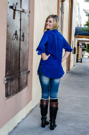 Wildest Dreams Top Royal Blue-Top-Forever Fab Boutique