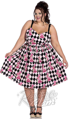 Hell Bunny Harlequin 50's Dress Curvy