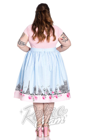 Hell Bunny Paname 50's Skirt Plus Size back