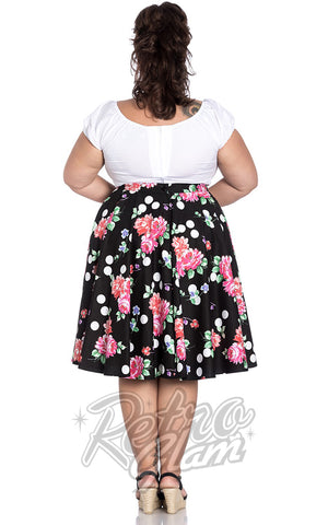 Hell Bunny Collarette 50's Skirt plus size back