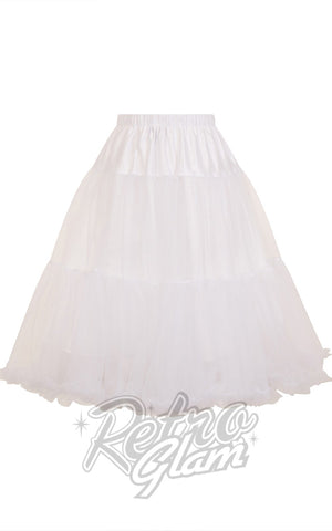 Hell Bunny White Polly 2 Tier Long Petticoat