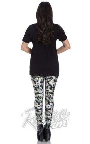 Hell Bunny Peepers Leggings back