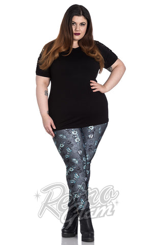 Spin Doctor Death's Head Leggings