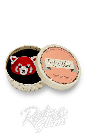 Erstwilder Lesser Rusty Red Panda Brooch box