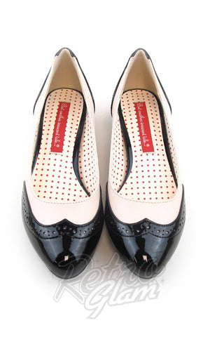 B.A.I.T Ida Shoes in Black Two Tone saddle