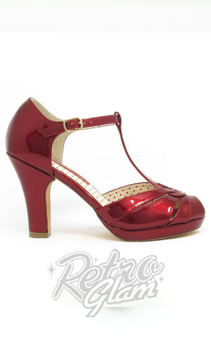 B.A.I.T Lacey Heels in Red Glass Side