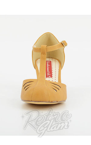 B.A.I.T Robbie Shoes in Matte Mustard pumps