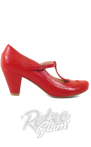 Chelsea Crew Marcy Shoes in Red Side