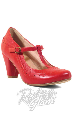 Chelsea Crew Marcy Shoes in Red