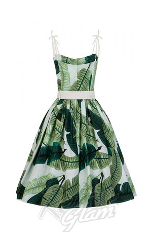 Collectif Jade Banana Leaf Swing Dress back