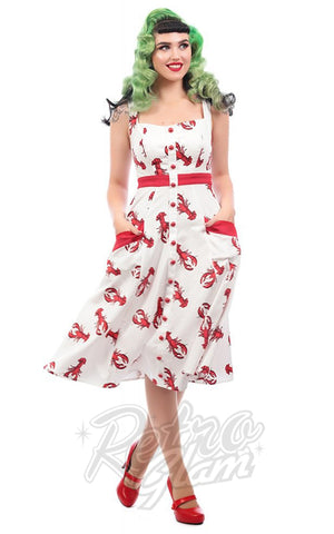 Collectif Sandrine Rock Lobster Swing Dress model