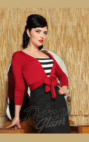 Heart of Haute Mandie Bee Sweet Sweater in Red