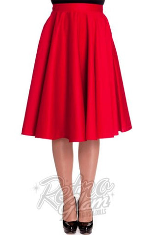 Hell Bunny Paula 50s Skirt in Red