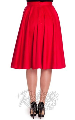 Hell Bunny Paula 50s Skirt in Red Back