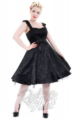 Hearts and Roses Amelia Dress in Black