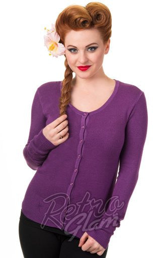 Banned Getaway Cardigan in Grape