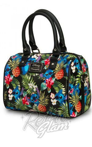 Loungefly Disney Stitch Hawaiian Pebble Duffle side