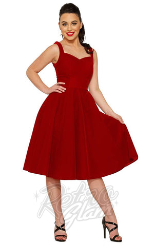 Hearts and Roses Scarlet Harlot Swing Dress
