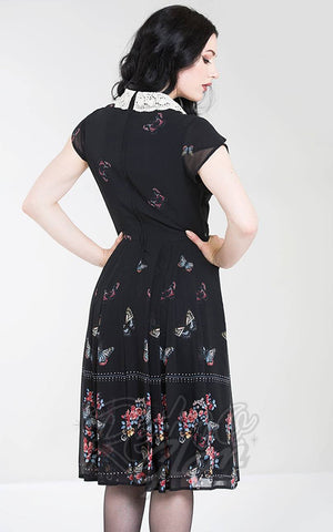 Hell Bunny Butterfly Dress back