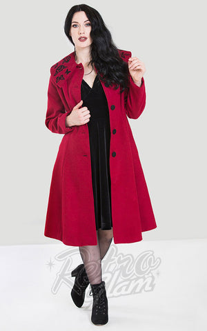 Hell Bunny Hermione Coat in Red
