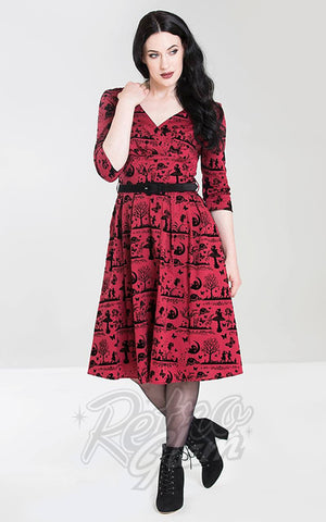 Hell Bunny Anderson Dress in Red