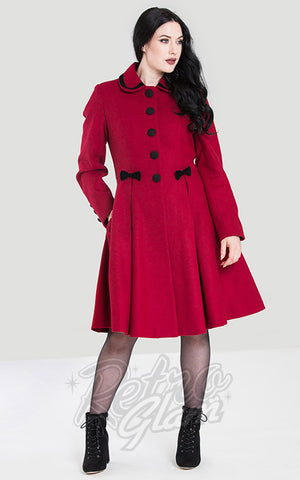 Hell Bunny Olivia Coat in Red