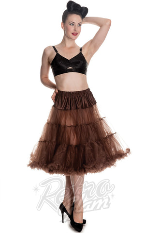 Hell Bunny Chocolate Brown Long Petticoat 50s