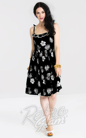 Hell Bunny Pineapple Tropicana Dress in Black