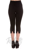 Hell Bunny Tina Capris in Black back