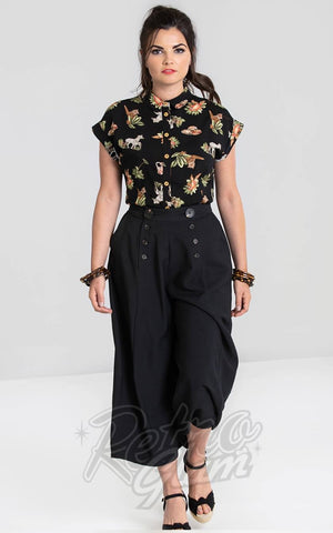 Hell Bunny Murphy Culottes in Black
