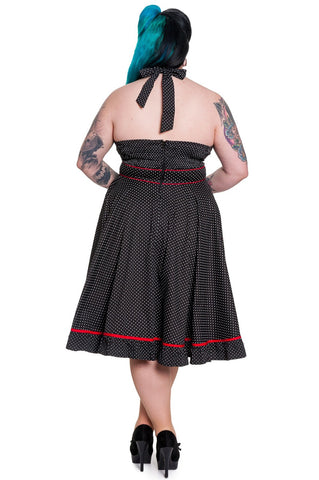 Hell Bunny Vanity 50's Dress Curvy Back