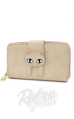 Loungefly Beige Cat Eyes Wallet side