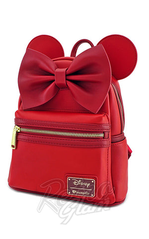 Loungefly Disney's Minnie Mouse Mini Backpack in Red