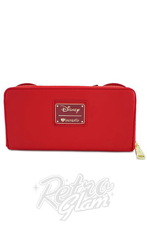 Loungefly Disney's Red Minnie Mouse with Ears and Bows Wallet back