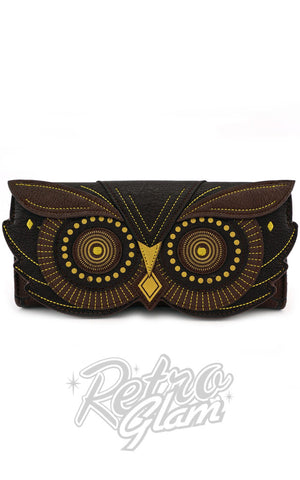 Loungefly Owl Face Flap Wallet in Brown