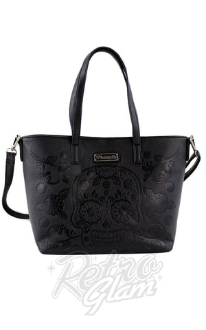 Loungefly Sugar Skull Tote Bag in Black