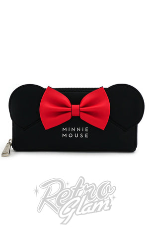 Loungefly Minnie Mouse with Ears and Bows Zip Around Wallet