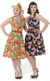 Rebel Love Hello Darling Dress in Tropical Orange Print & grapefruit