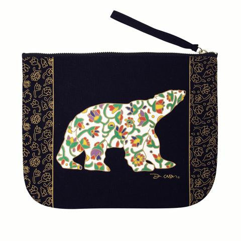 Spring Bear Zippered Pouch