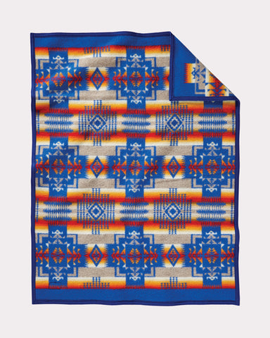 Chief Joseph Baby Blanket by Pendleton-Blue