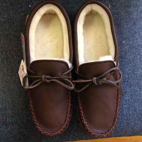 Leather/Sheepskin Mens Slippers