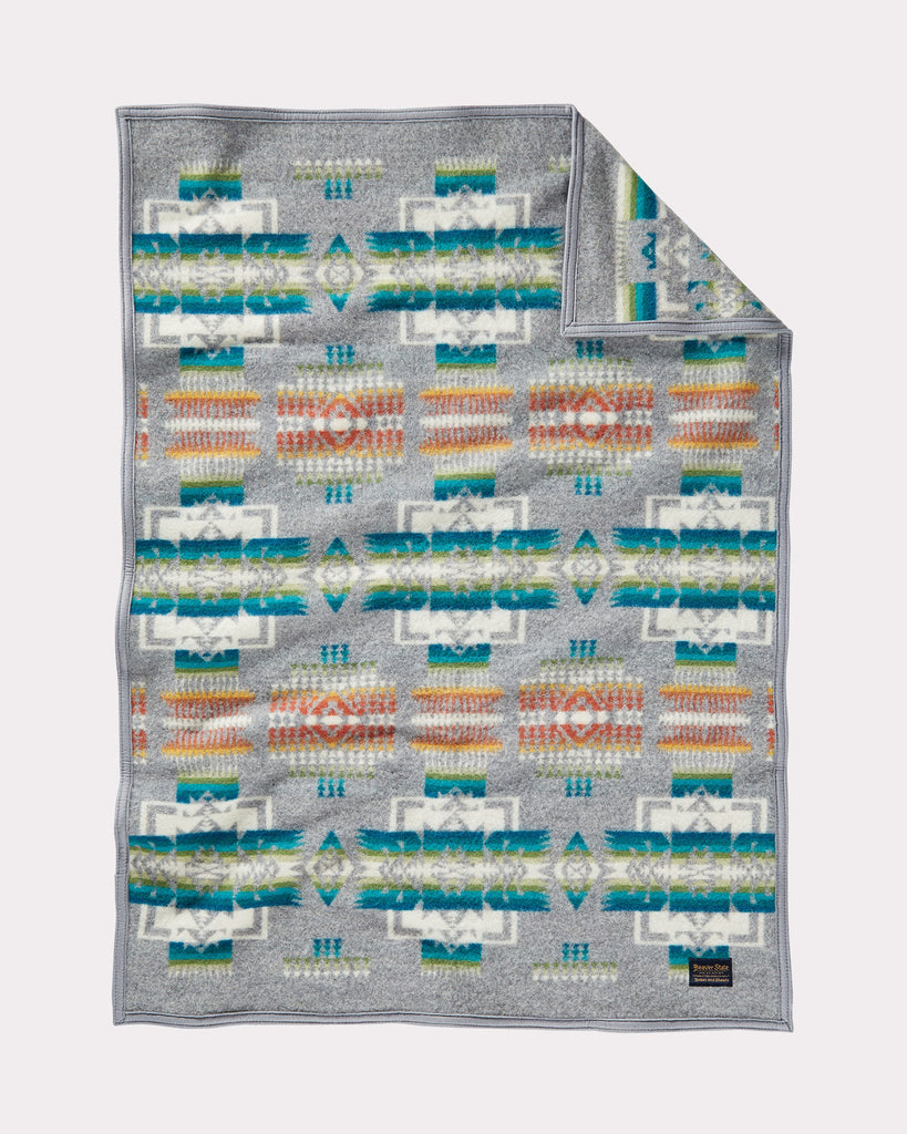 Chief Joseph Baby Blanket in Grey by Pendleton