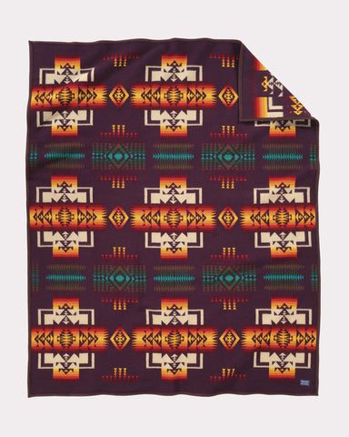 Chief Joseph Blanket by Pendleton, Maroon
