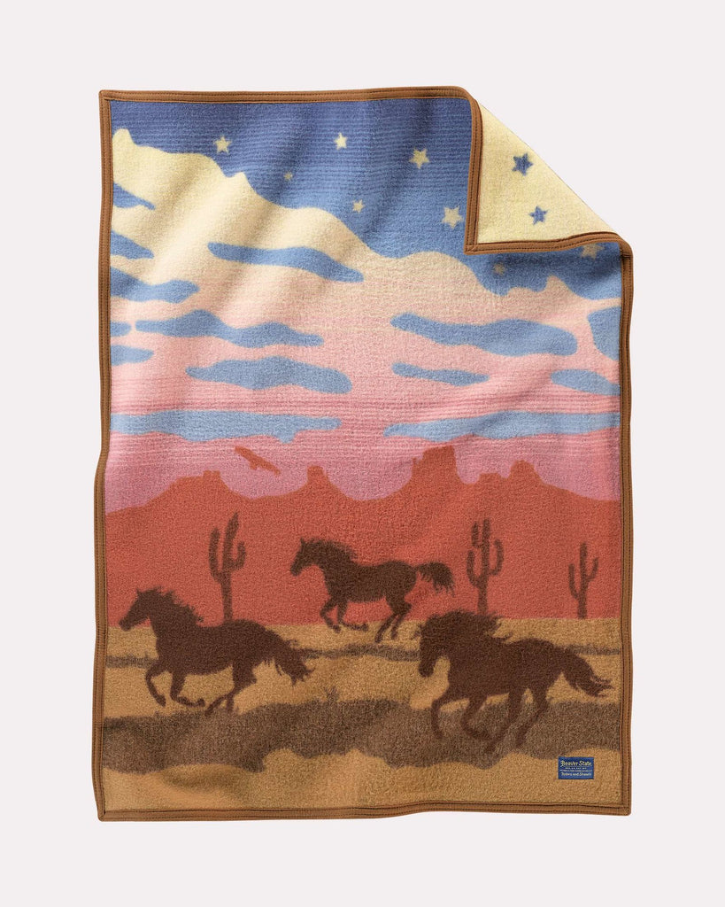 Wild Horses Baby Blanket by Pendleton
