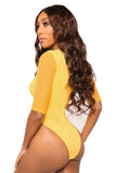 go deep monokini- yellow