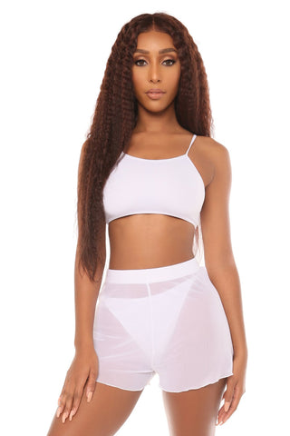 mesh you up shorts- white - Icon