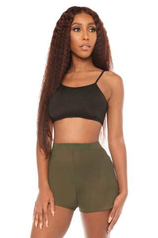 mesh you up shorts- olive - Icon