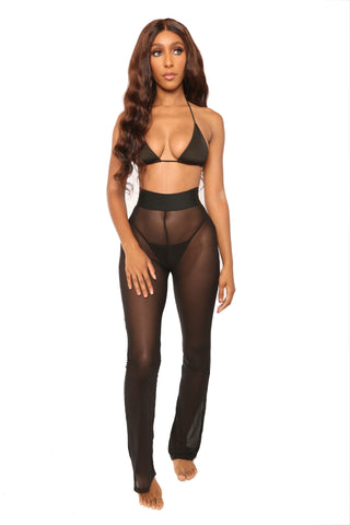 smooth move cover up pants- black