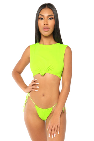 win me over bikini- green