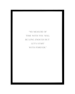 Let's Start With Forever - Olive et Oriel | Shop Art Prints & Posters Online